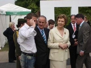 peter donegan, dr martin & president of ireland mary mc aleese