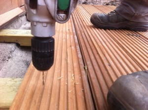 pre drill hardwood timber