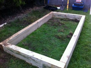 making raised vegetable beds