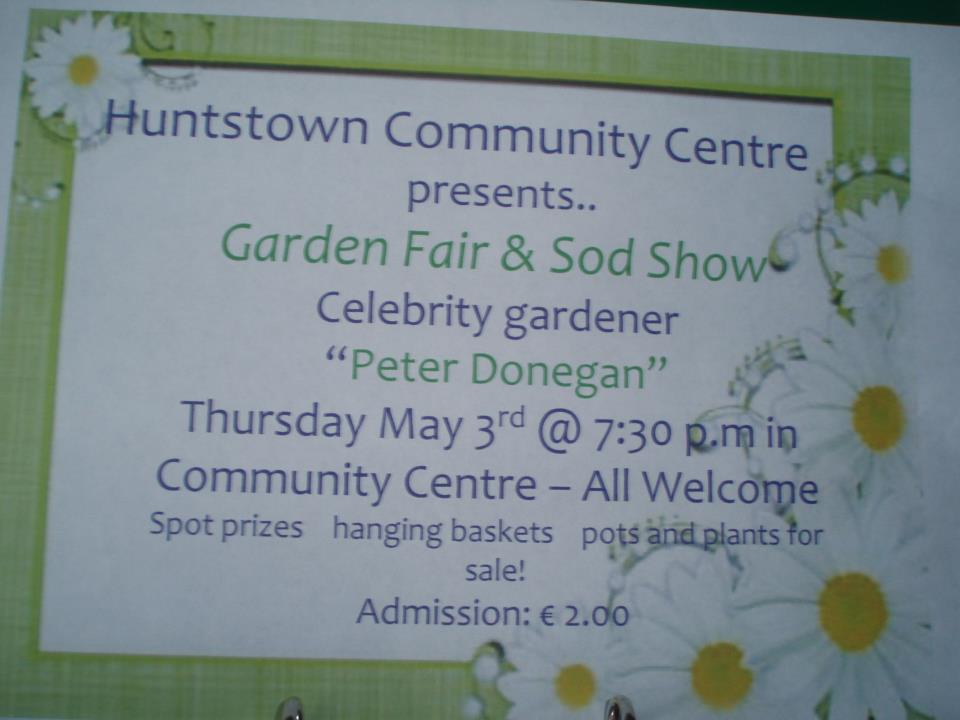 huntstown community centre, gardening talk