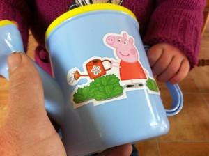 peppa pig watering can