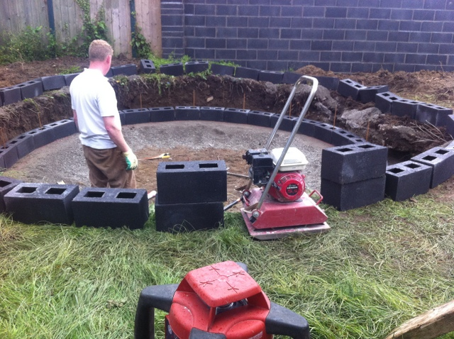 Trampoline sinking peter donegan landscaping ltd dublin for How to put a trampoline in the ground