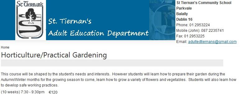 gardening courses dublin
