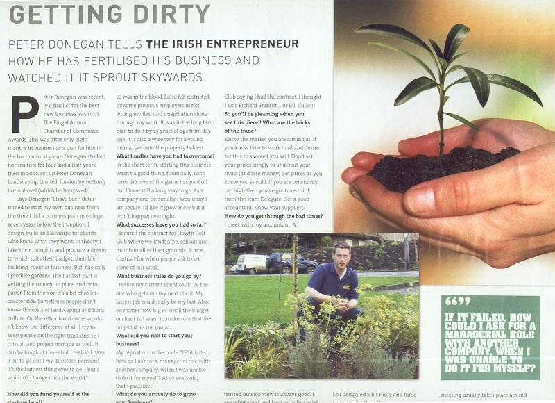 donegan landscaping, irish entrepreneur