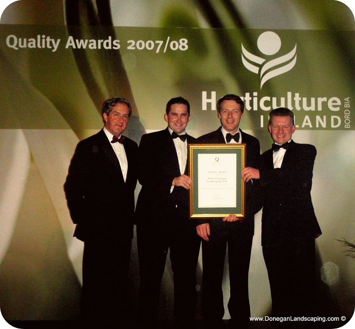 peter donegan landscaping, quality award bord bia, landscaping awards