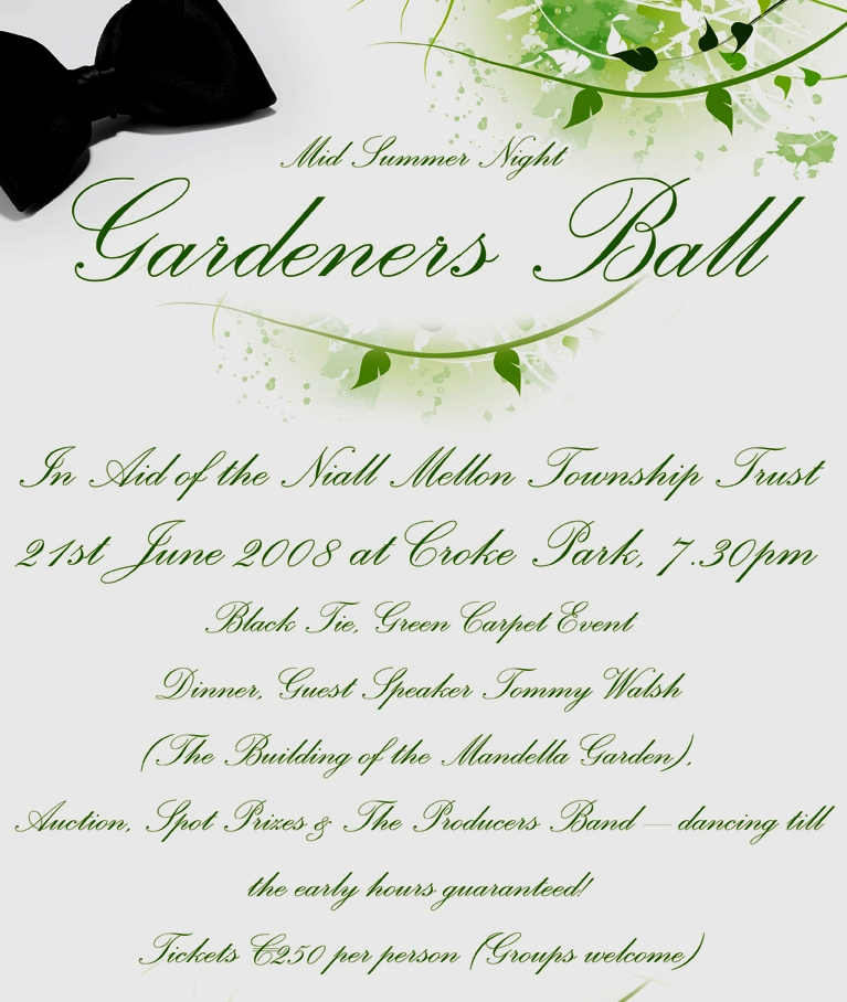 garden of hope gardeners ball niall mellon township 2008 peter donegan