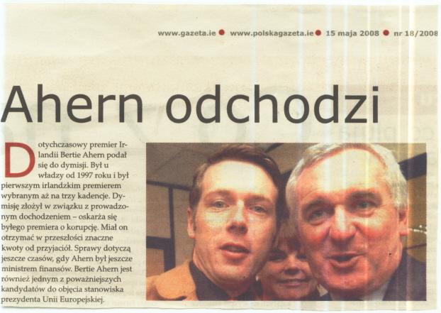 peter donegan & bertie ahern polska gazeta