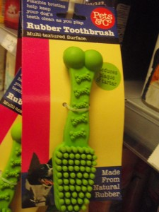 rubber toothbrush for pets