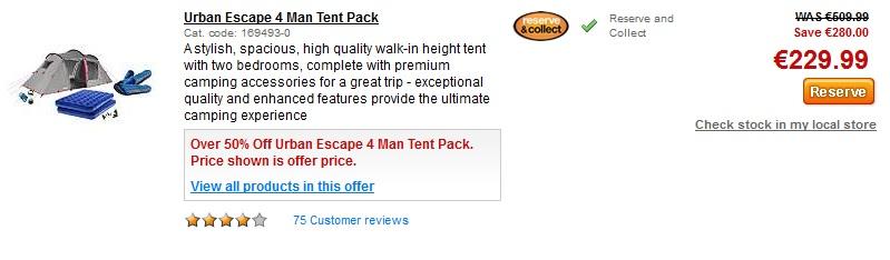 halfords urban escape tent