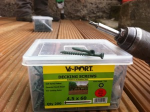 v port hardwood deck screws