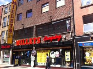 millets camping, mary street, dublin