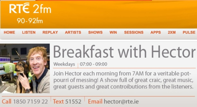 breakfast with hector 2fm radio