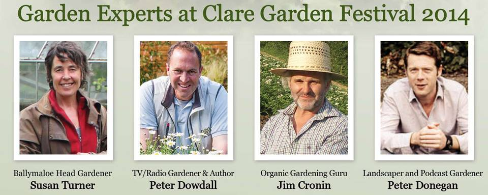 clare garden festival 2014, expert garden speakers